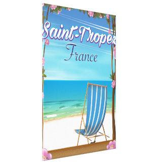 Impressão Em Tela Poster de viagens de France do Santo-Tropez