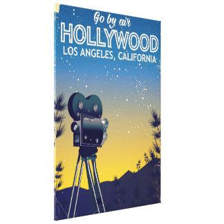 Impressão Em Tela Poster de viagens de Hollywood Los Angeles