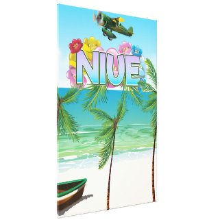 Impressão Em Tela Poster de viagens de Niue South Pacific