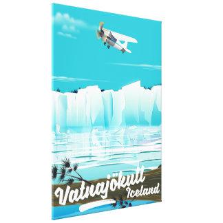 Impressão Em Tela Poster de viagens de Vatnajökull Islândia