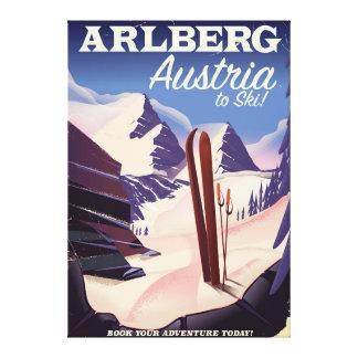 Impressão Em Tela Poster de viagens do esqui de Arlberg Áustria