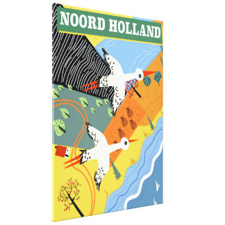 Impressão Em Tela Poster de viagens do estilo do vintage de Noord