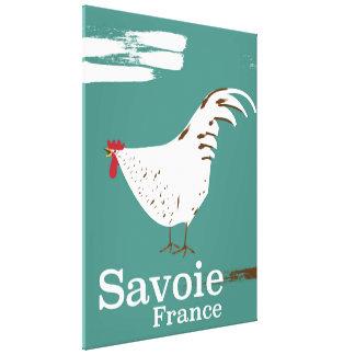 Impressão Em Tela Poster de viagens do galo novo de Sabóia France