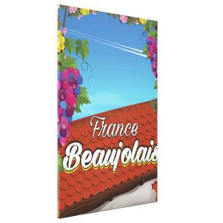 Impressão Em Tela Poster de viagens do vinho de France do Beaujolais