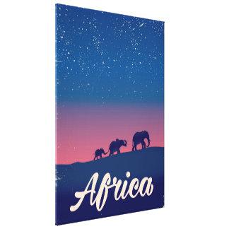 Impressão Em Tela Poster de viagens dos elefantes do vintage de