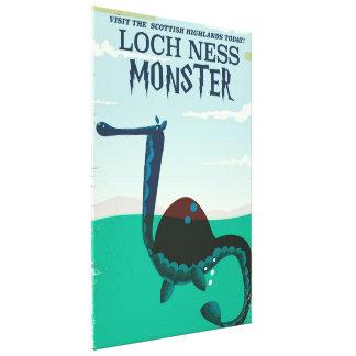 Impressão Em Tela Poster de viagens engraçado do monstro de Loch