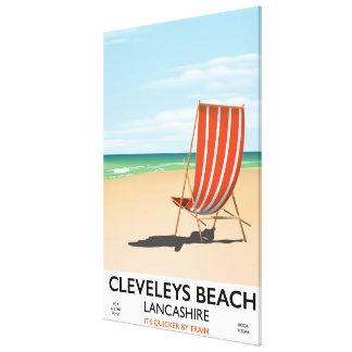 Impressão Em Tela Poster do beira-mar de Lancashire da praia de