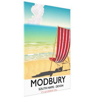 Impressão Em Tela Poster do beira-mar do vintage de Modbury Devon