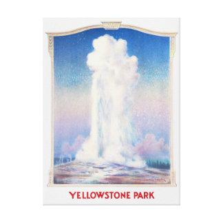 Impressão Em Tela Poster do parque de Yellowstone
