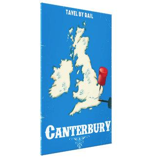 Impressão Em Tela Poster do trilho do vintage das ilhas britânicas