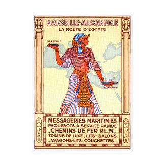 Impressão Em Tela Poster restaurado Egipto das viagens vintage de