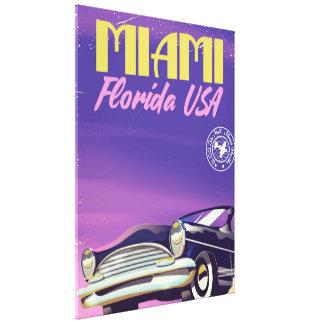 Impressão Em Tela Poster vintage de Miami Florida EUA
