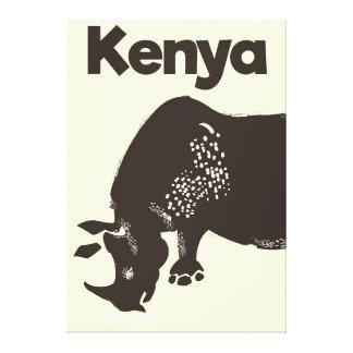 Impressão Em Tela Poster vintage do africano do rinoceronte de Kenya