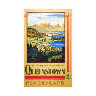 Impressão Em Tela Poster vintage restaurado Queenstown de Nova