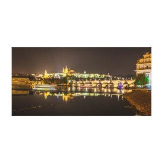 Impressão Em Tela Praga - castelo & ponte de Charles