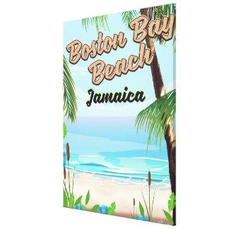 Impressão Em Tela Praia da baía de Boston, Jamaica