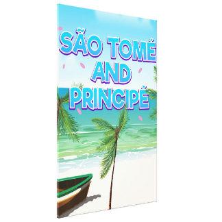 Impressão Em Tela Praia de São Tomé e de Principé