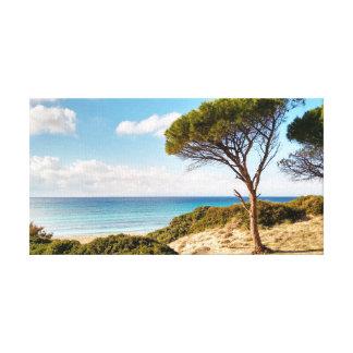 Impressão Em Tela Praia de Sardinia, Porto Sa Ruxi