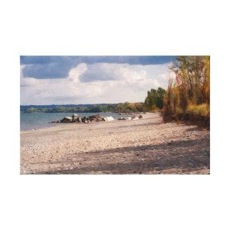 Impressão Em Tela Praia rochosa
