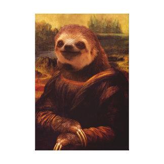 Impressão Em Tela Preguiça de Mona Lisa