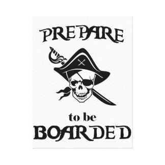 Impressão Em Tela Prepare para ser crânio e espada pretos embarcados