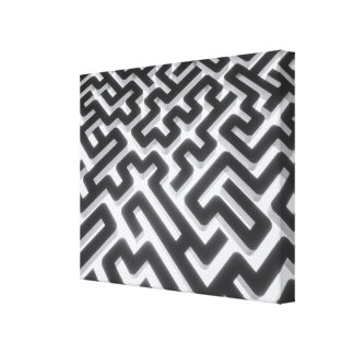 Impressão Em Tela Preto de prata do labirinto