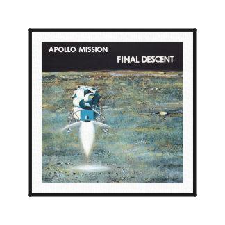 Impressão Em Tela Programa Apolo - conceito do artista da missão da