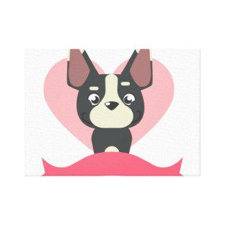 Impressão Em Tela Pug Love
