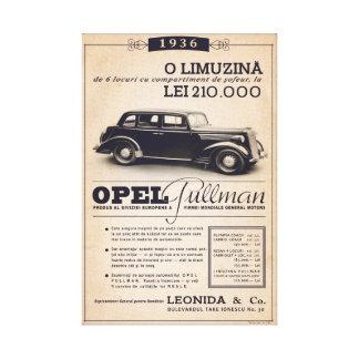 Impressão Em Tela Pullman 1936 de Opel - poster vintage