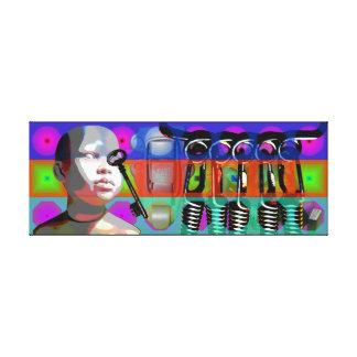 Impressão Em Tela Quadros psicadélicos do pop da boneca do projeto
