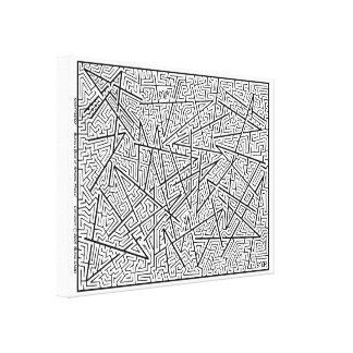 Impressão Em Tela Quebrado - um labirinto surpreendente por Blaise!