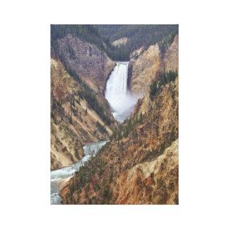 Impressão Em Tela Quedas de Yellowstone