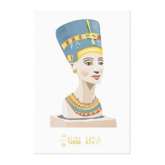 Impressão Em Tela Rainha Nefertiti e cartaz retangular do Cartouche