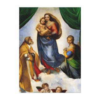 Impressão Em Tela Raphael Sistine Madonna