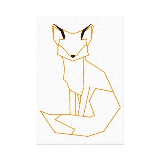 Impressão Em Tela raposa