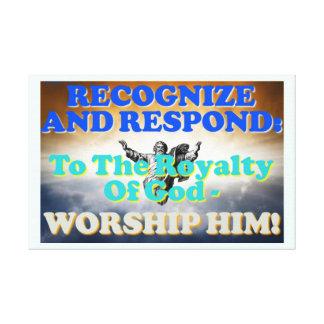 Impressão Em Tela Reconheça e responda aos direitos do deus!