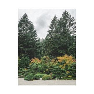 Impressão Em Tela Relaxe em um jardim japonês