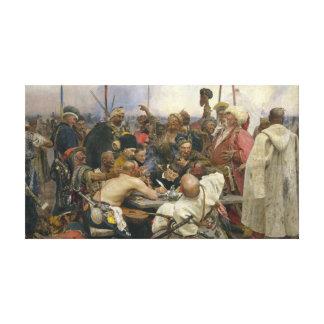 Impressão Em Tela Resposta de Ilya Repin dos Cossacks de Zaporozhian