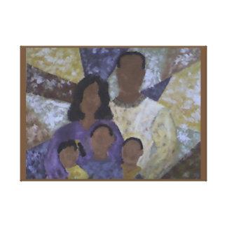 """Impressão Em Tela """"Retrato da família"""""""