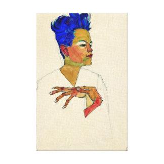 Impressão Em Tela Retrato de auto de Egon Schiele