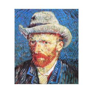 e11dca86aba Impressão Em Tela Retrato de auto de Vincent van Gogh com o chapéu