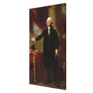 Impressão Em Tela Retrato de George Washington do vintage que pinta