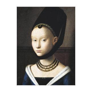 Impressão Em Tela Retrato de Petrus Christus de uma jovem mulher
