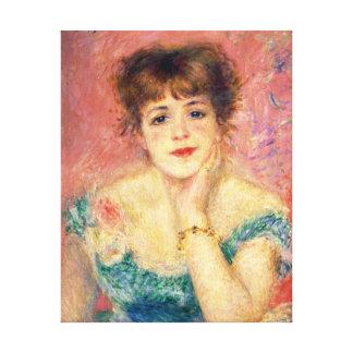 Impressão Em Tela Retrato de Pierre-Auguste Renoir de Jeanne Samary