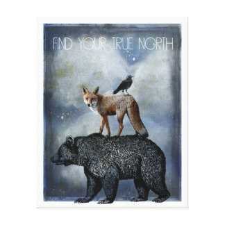 Impressão Em Tela Retrato do animal do norte verdadeiro