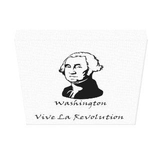 Impressão Em Tela Revolução do La de George Washington Vive