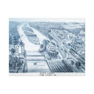 Impressão Em Tela Rio 1871 norte de Illinois da Aurora de Litho de