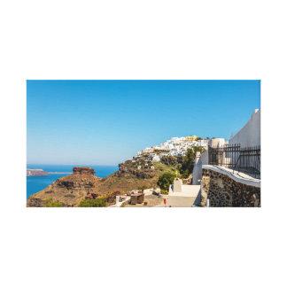 Impressão Em Tela Rocha de Imerovigli, de Santorini e de Skaros