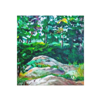 Impressão Em Tela Rochas e árvores