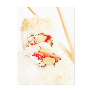 Impressão Em Tela rolos de sushi